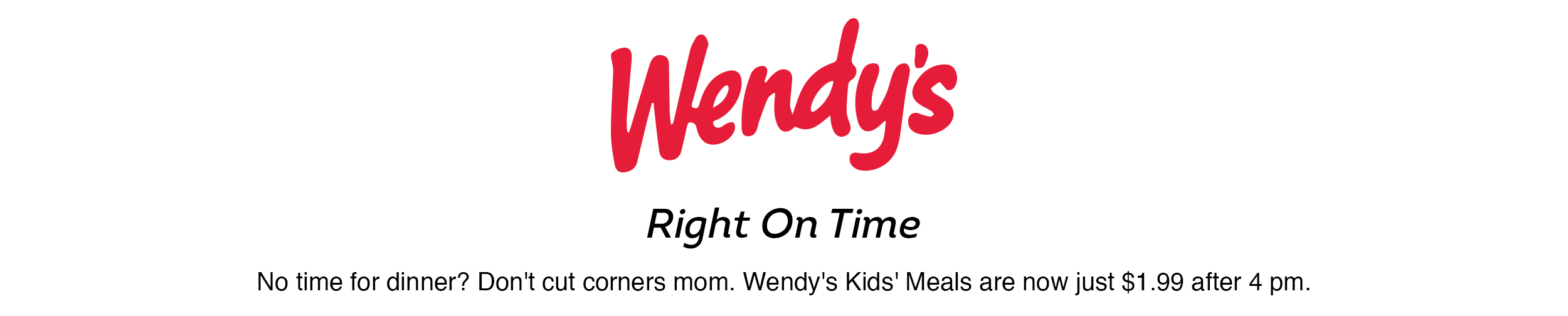 wendy's - time