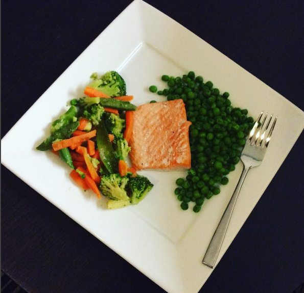 A favorite dinner of mine – baked salmon with vegetables. #Yummy