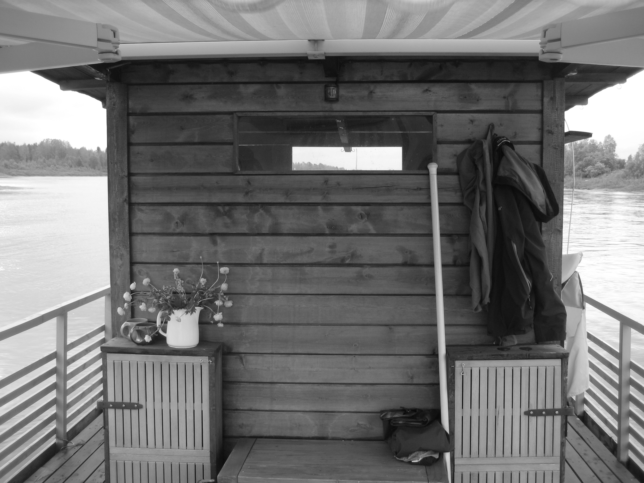 Sauna on Ounasjoki-river