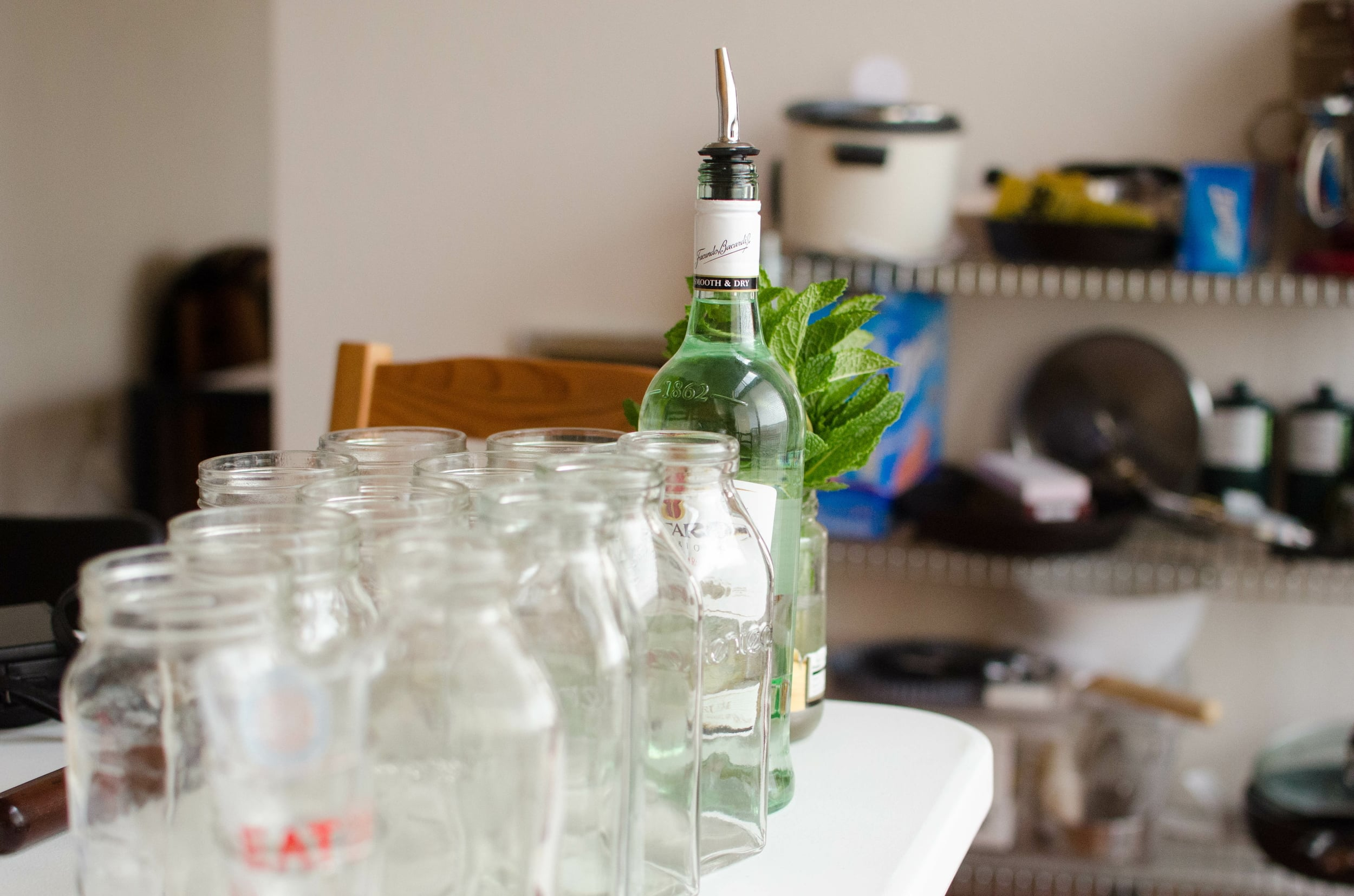 mojito station with hipster jars