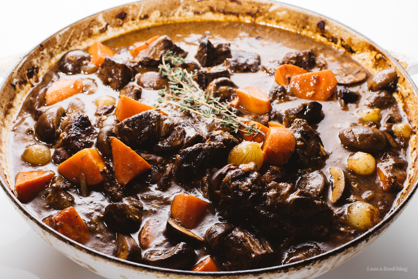 from   i am a food blog 's  Warm and Cozy Beef Bourguignon   recipe