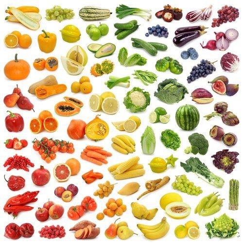 rainbow fruit veg