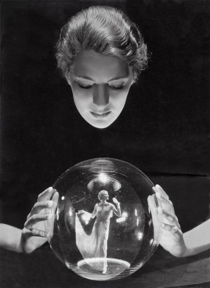 Crystal Ball, circa 1920's - Photographer George Hoyningen-Huene
