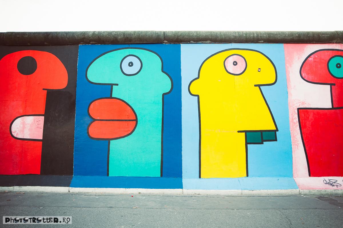 Capetele lui Thierry Noir, artistul despre care se spune că a fost primul care a desenat pe Zidul Berlinului