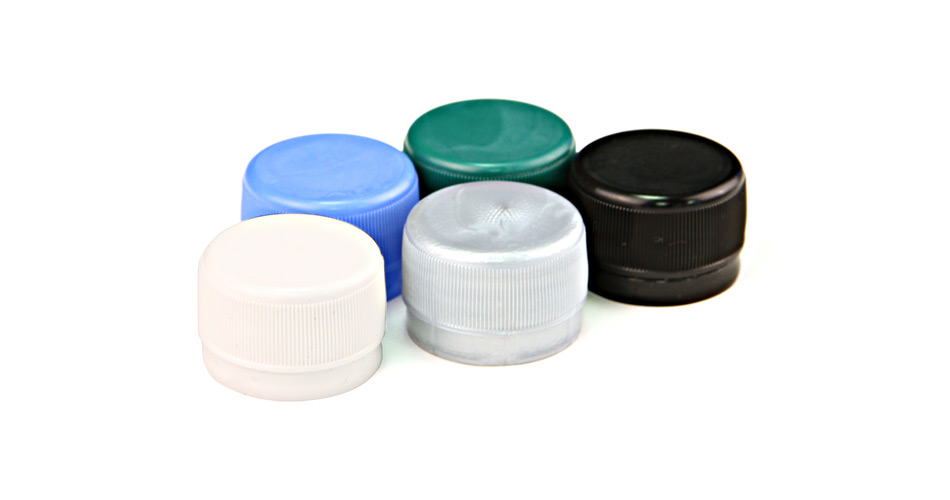 Flat plastic caps with a wide range of standard colours - and can be printed up to 3 colours.