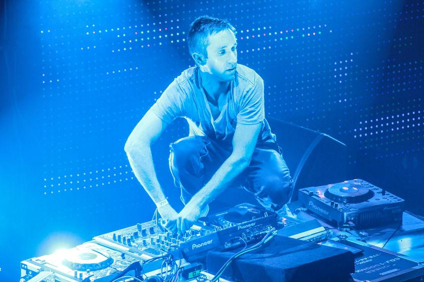 DJ Eddie Halliwell performs at Urban Wave Festival  In  Minsk, Belarus