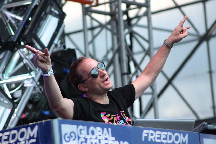 Paul van Dyk at the Global Gathering Festival on July 6, 2013 in Minsk
