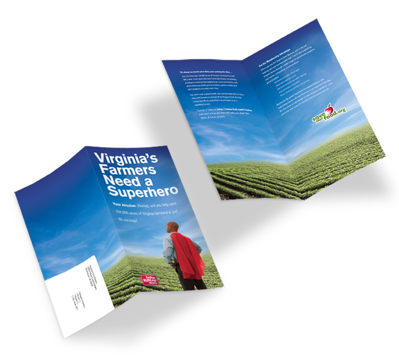 Personalized direct-mail brochure