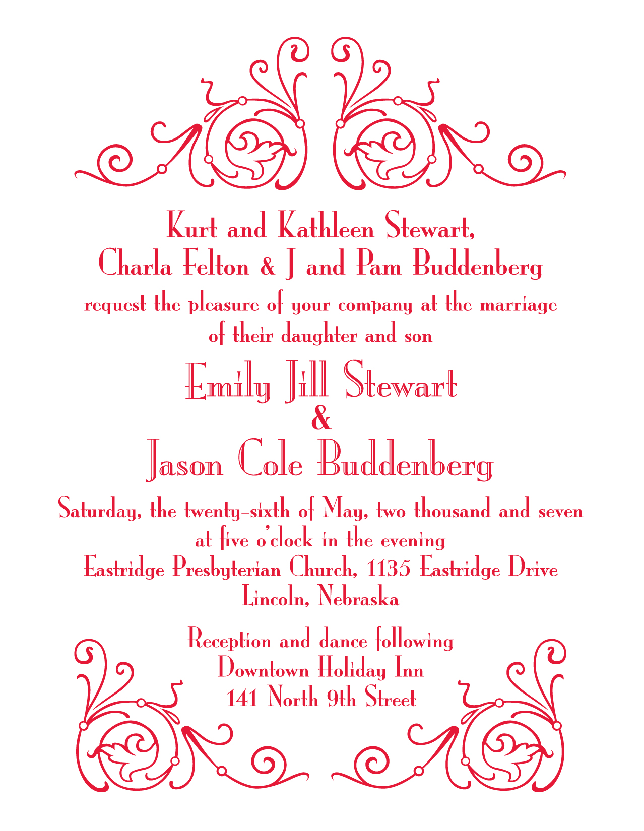Wedding invitaiton