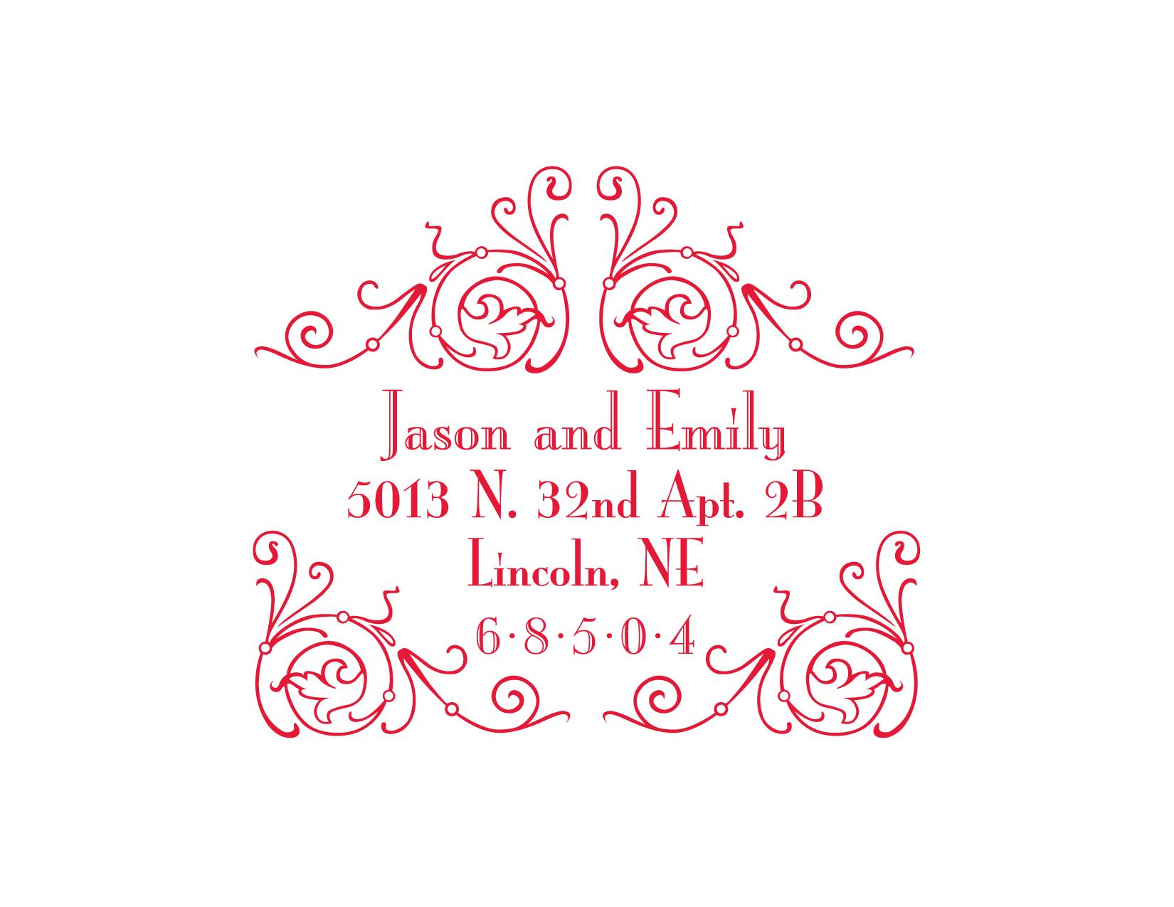 Inner envelope for wedding invitation