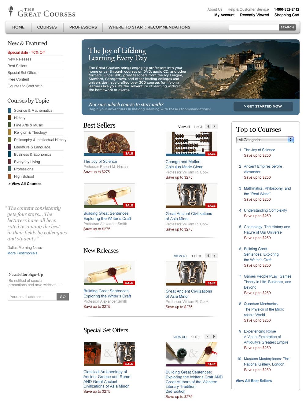 Website wireframe skinning and banner design