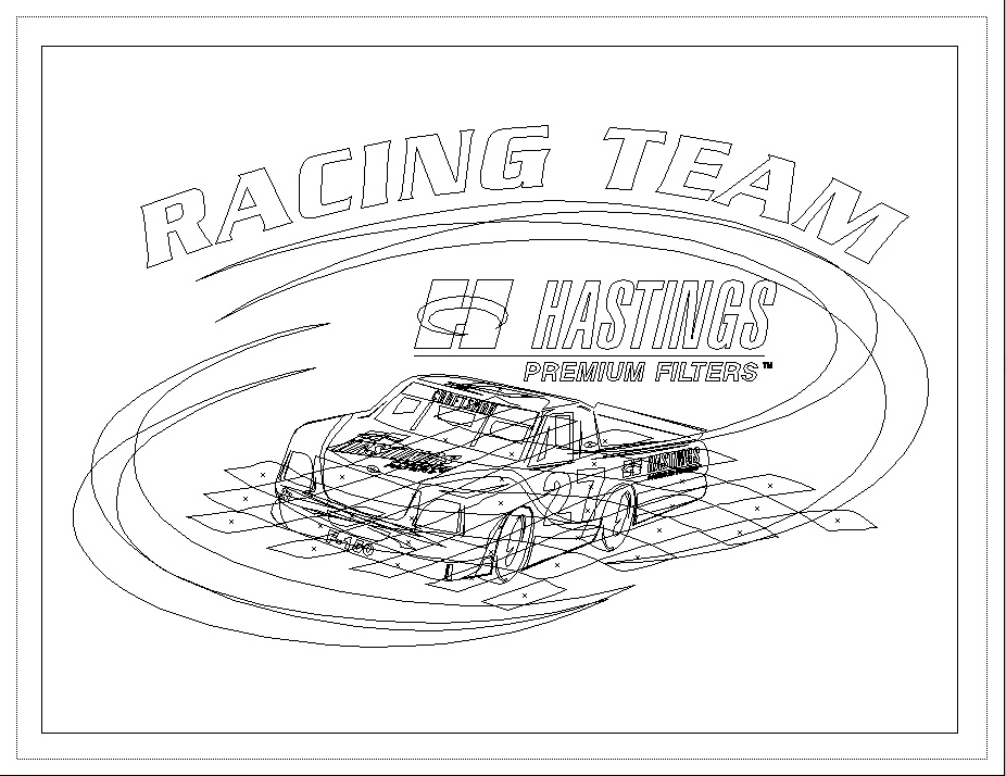 Racing team shirt illustration