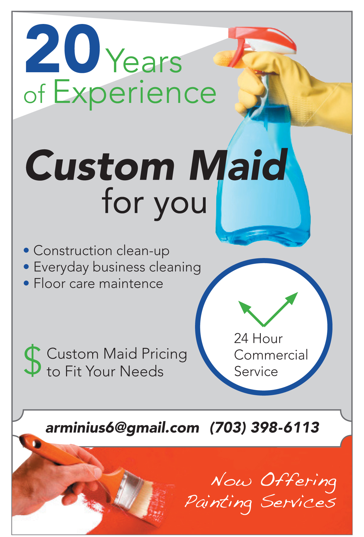 Custom Maid<strong>Tabletop Ad</strong>