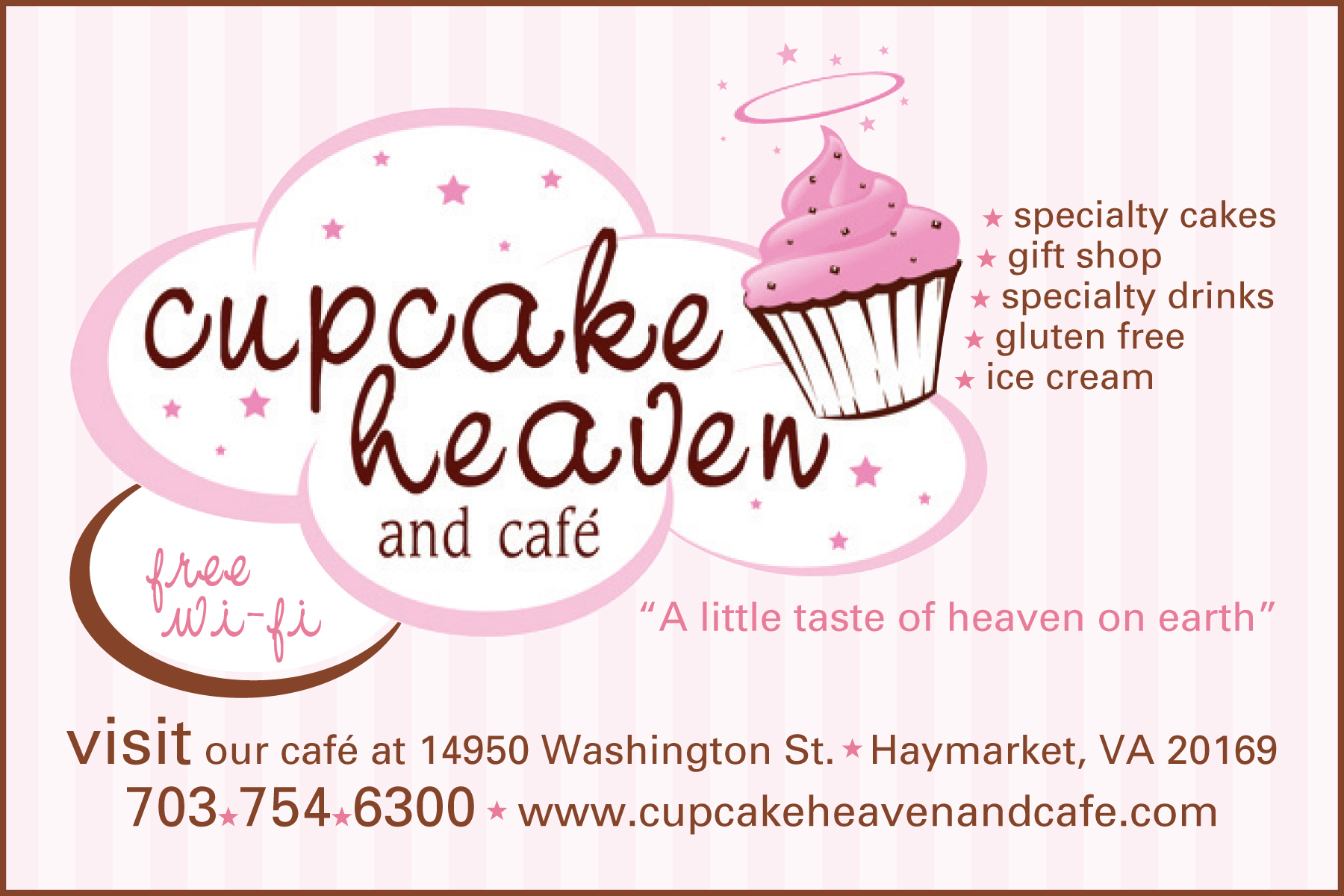 Cupcake Heaven and Café<strong>Tabletop Ad</strong>