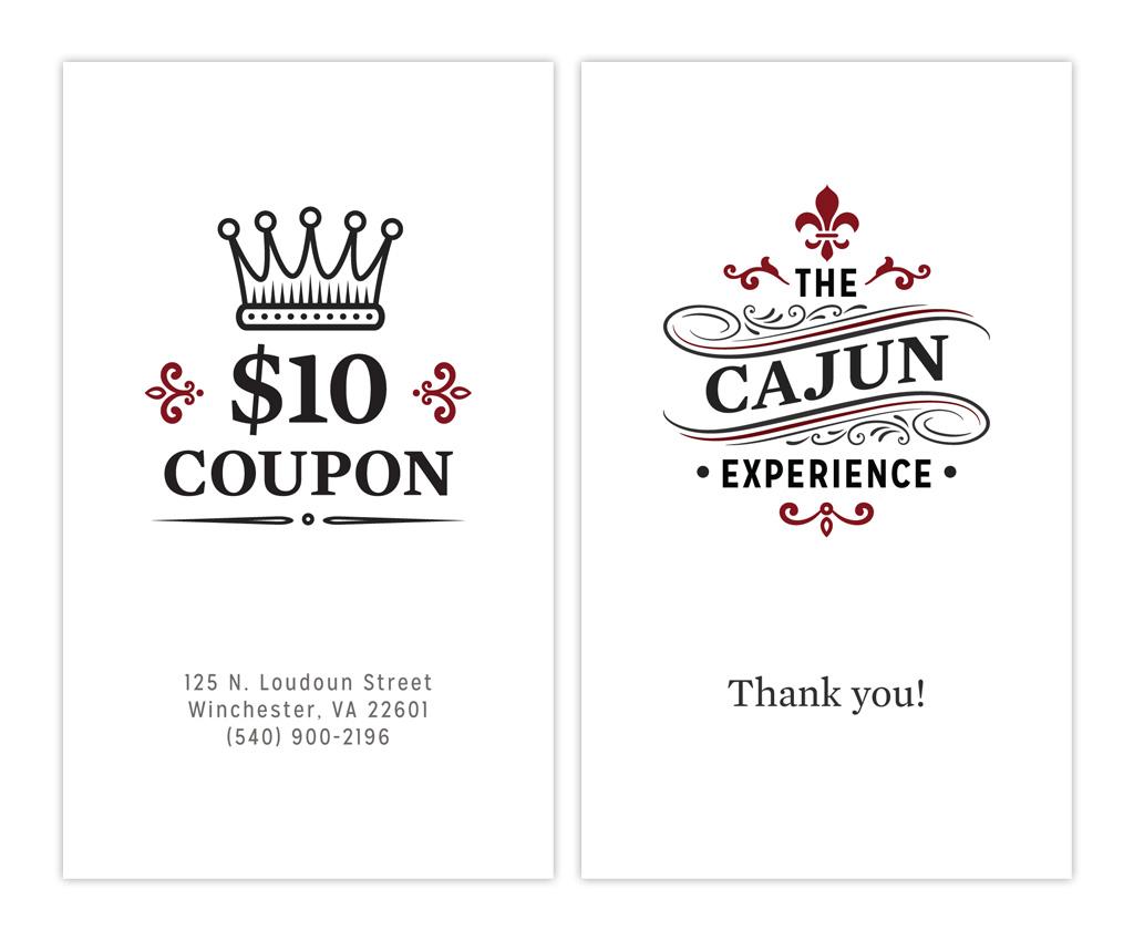 Coupon thank you card