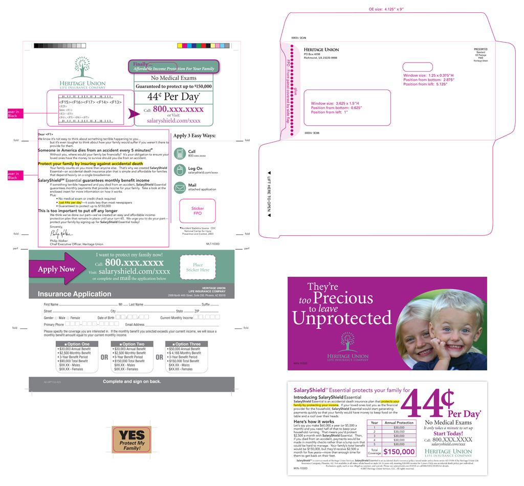 Direct mail, design, illustration, and pre-press