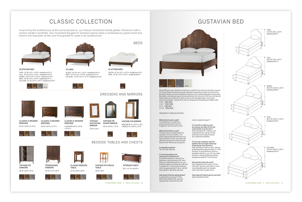 Collection booklet design