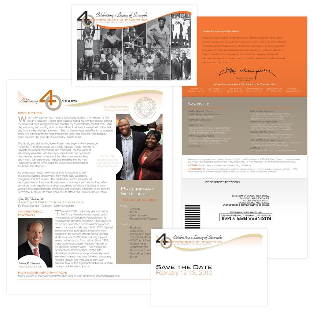 Anniversary Postcard, Invitation Mailer & Event Program