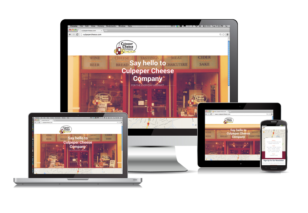Culpeper Cheese Company Responsive Website Design & Coding