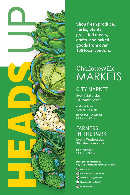 Charlottesville Markets Poster
