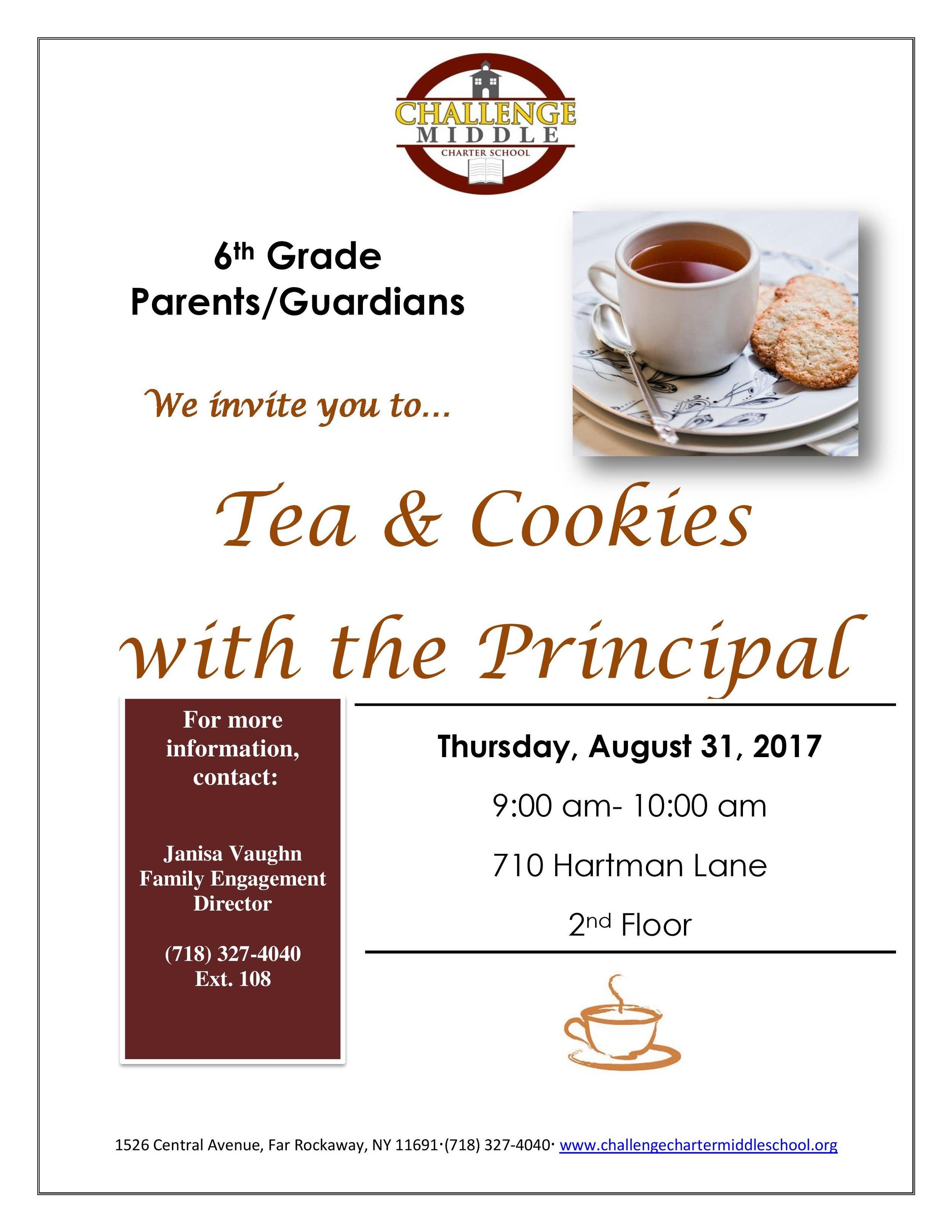 Meet the Principal flyer