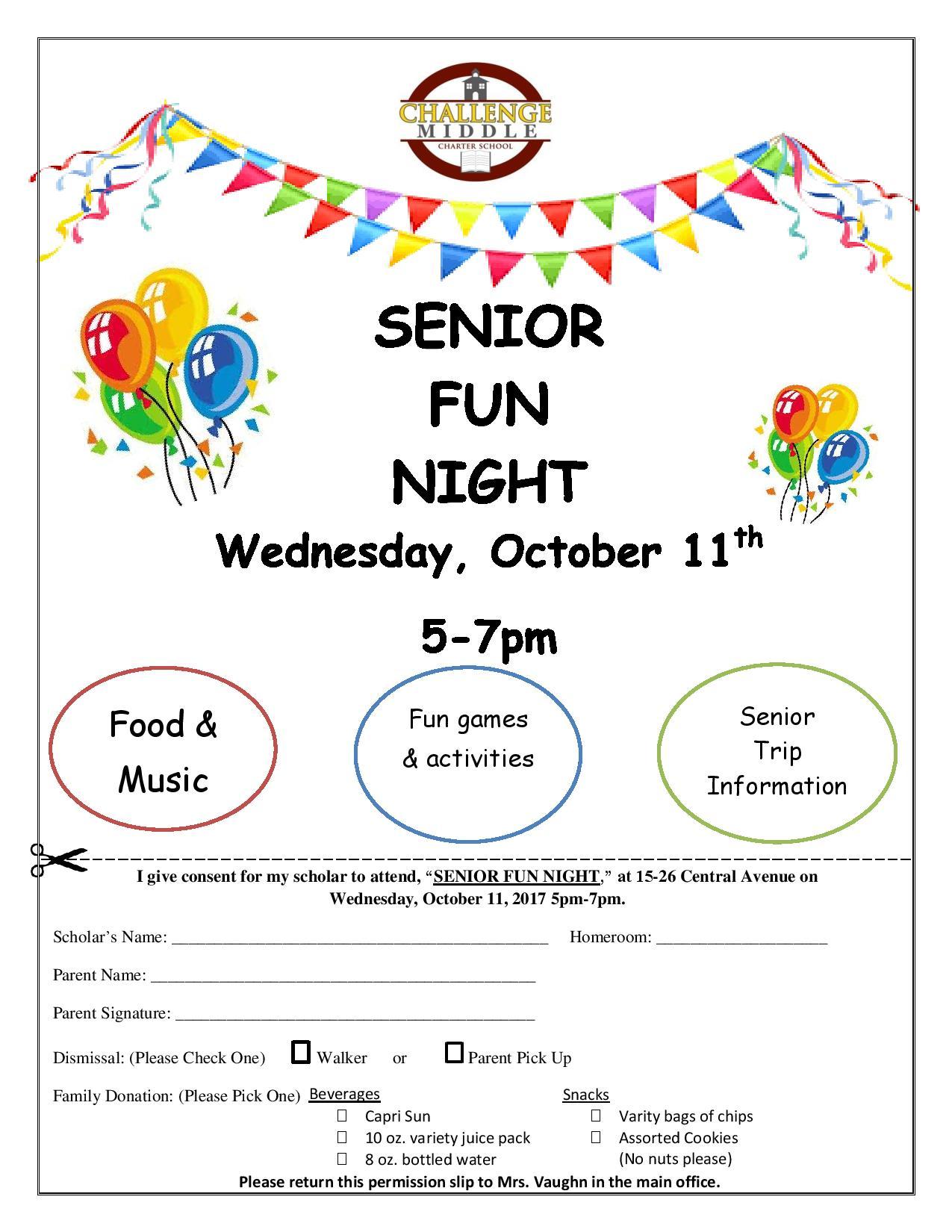 Senior Night Form