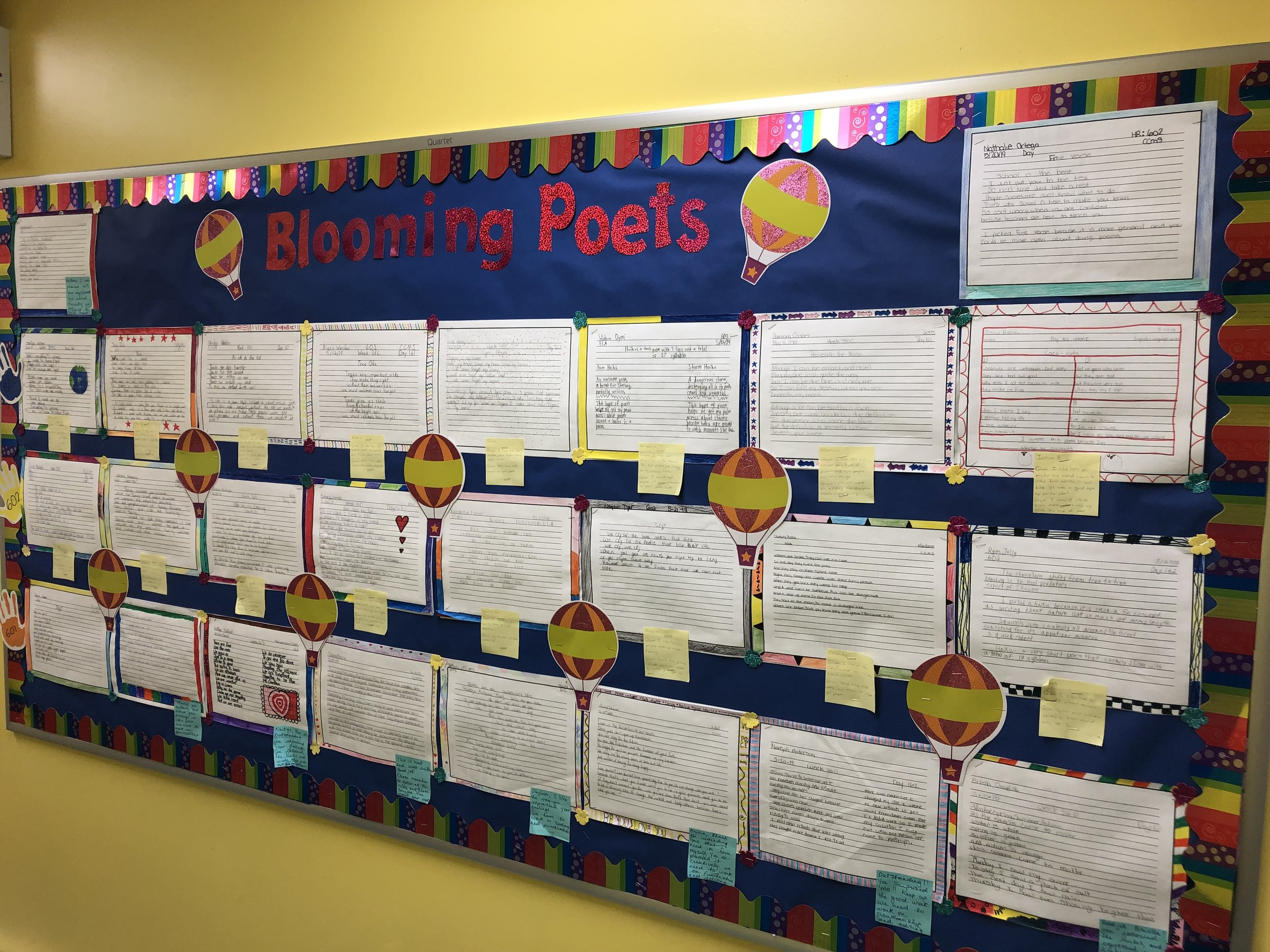 Teachers provide Grow and Glow feedback as they showcase the work of our scholars.