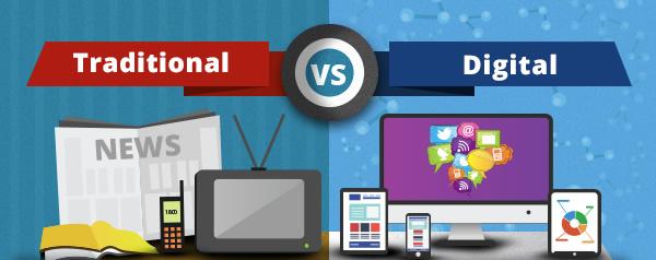 Traditional Marketing &Digital Marketing  Photo credit:www.seriouslysimplemarketing.com