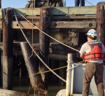 Marine piling inspection and evaluation