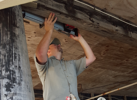 Nondestructive testing of timbers, utility poles, and pilings using a Resistograph (Resistance Drilling)