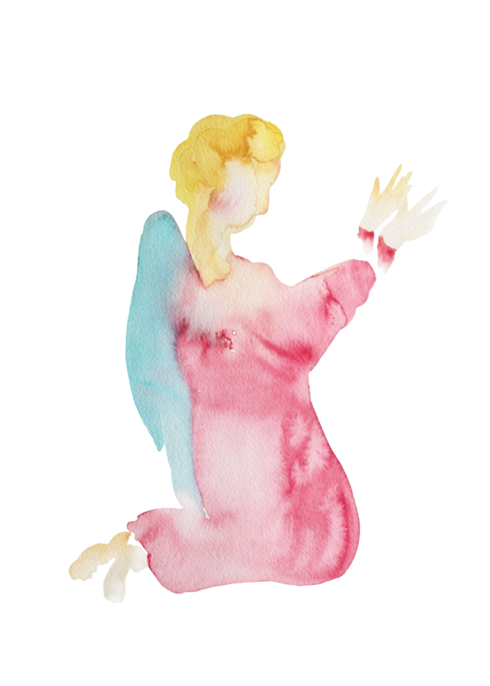 Ange  , 2013, watercolour on paper, 29,7*43cm, private collection