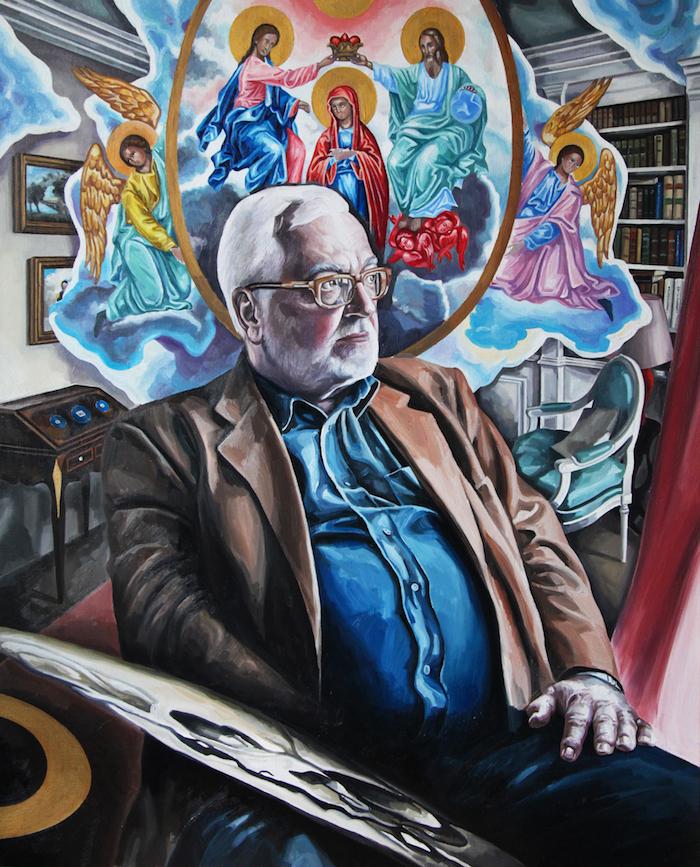 Portrait ,  2018, oil on linen canvas, 130 x 81cm