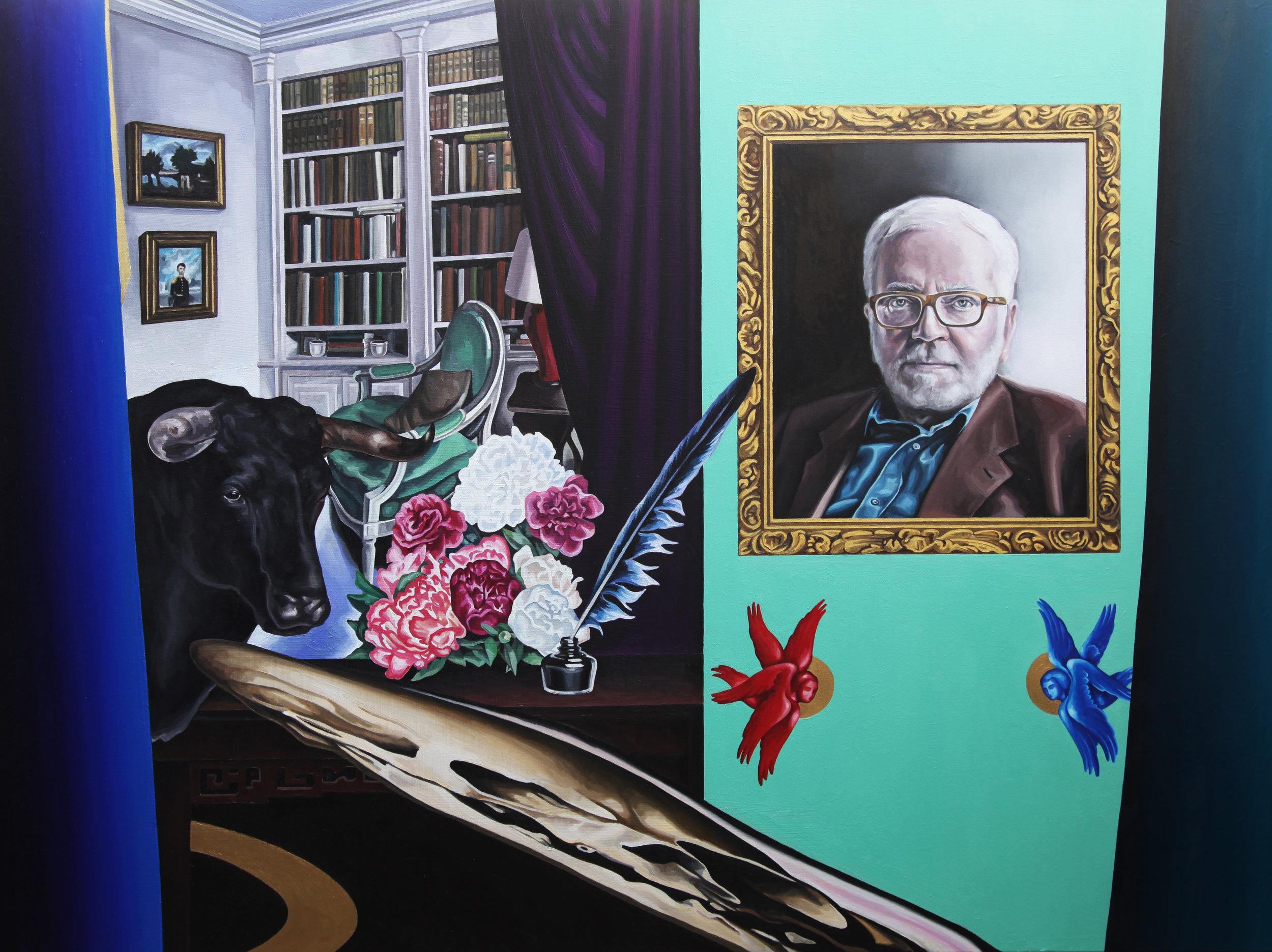 Portrait ,  2018, oil on linen canvas, 97x130cm