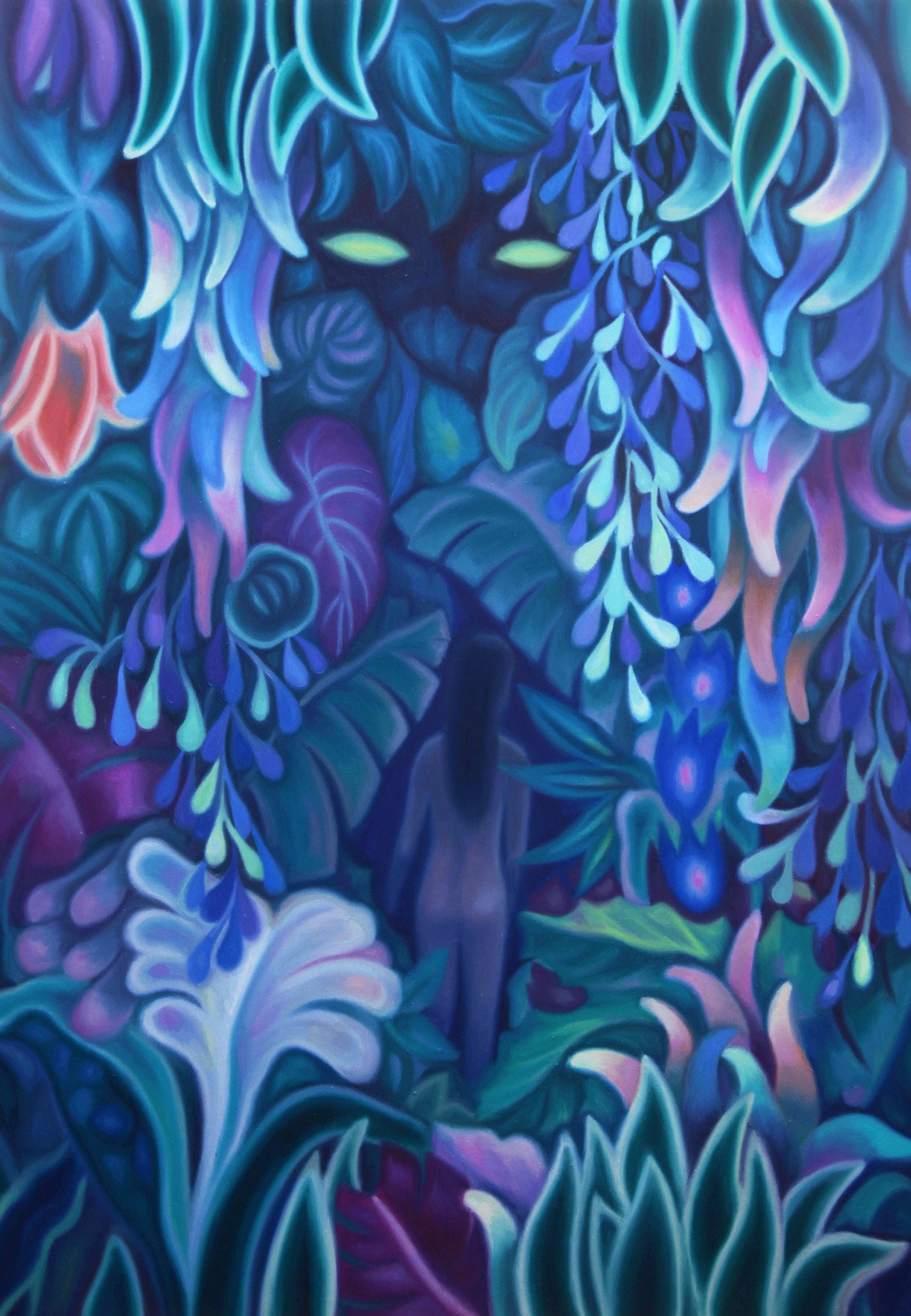 Night walk  , 2019, oil on linen canvas, 116x81cm