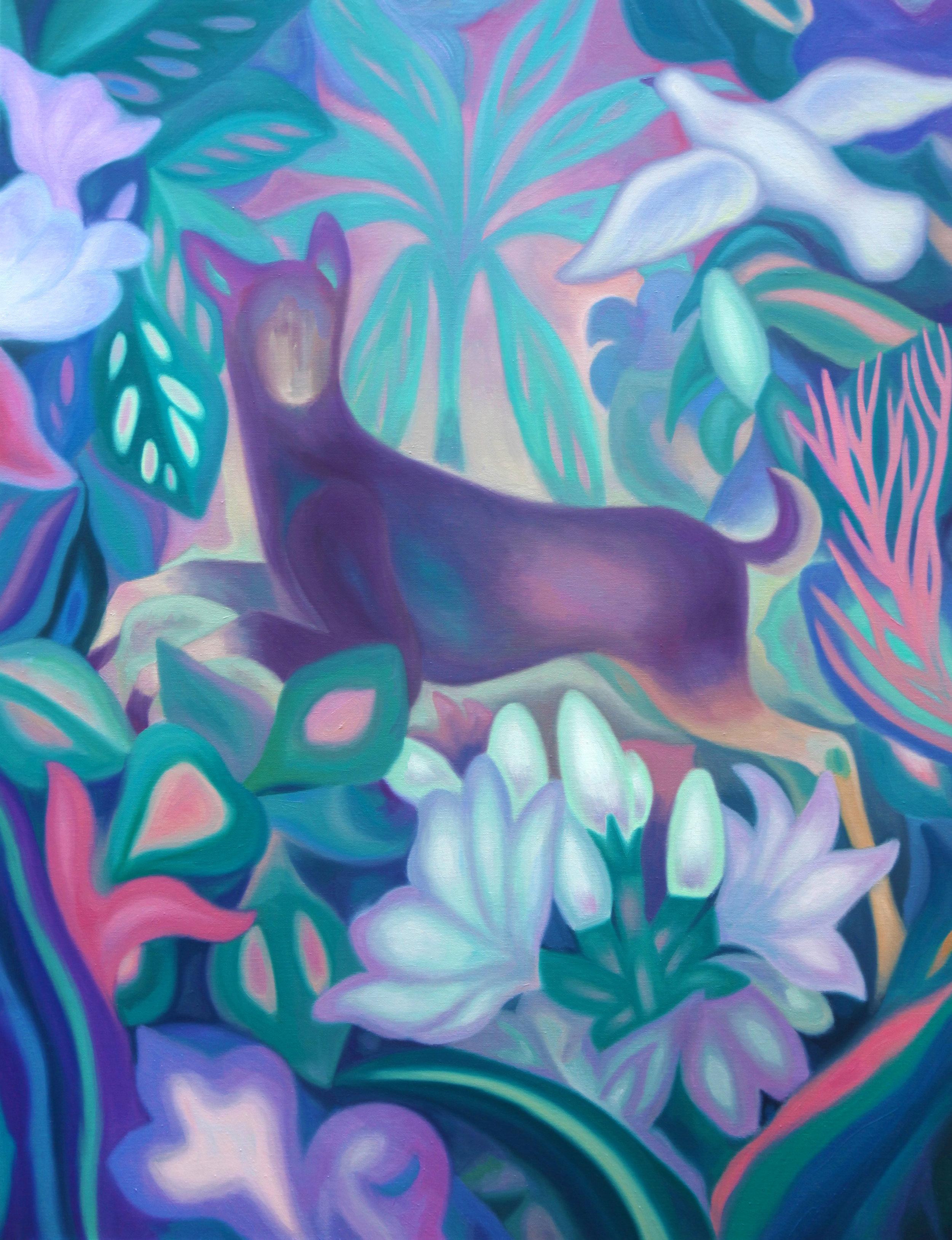 La métamorphose d'Actéon  , 2018, oil on linen canvas, 116x89cm
