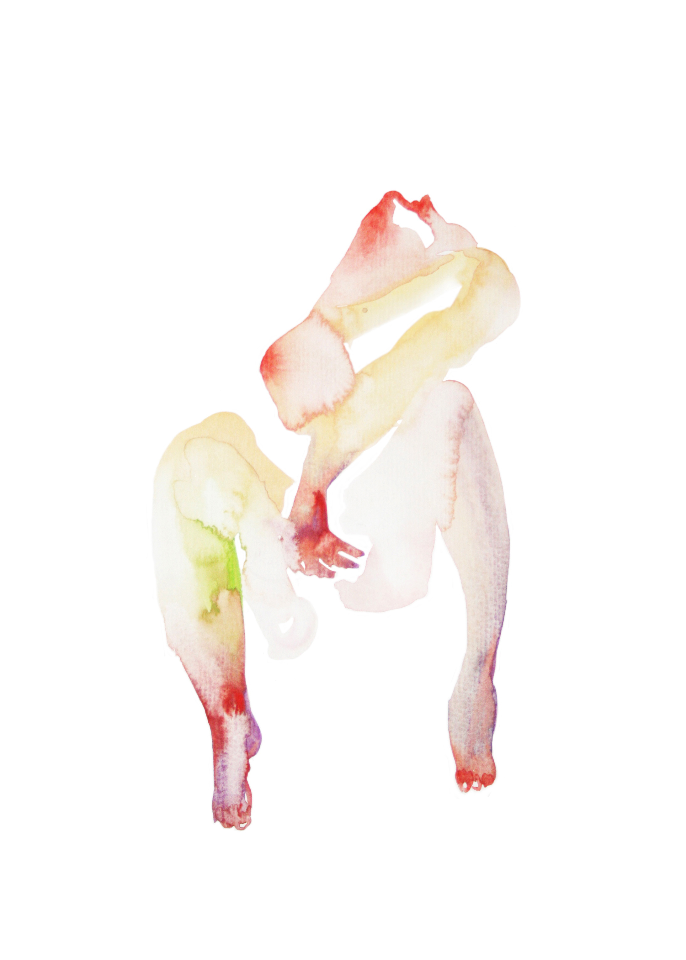 Untitled body  , 2012, watercolor on paper, 29x21cm