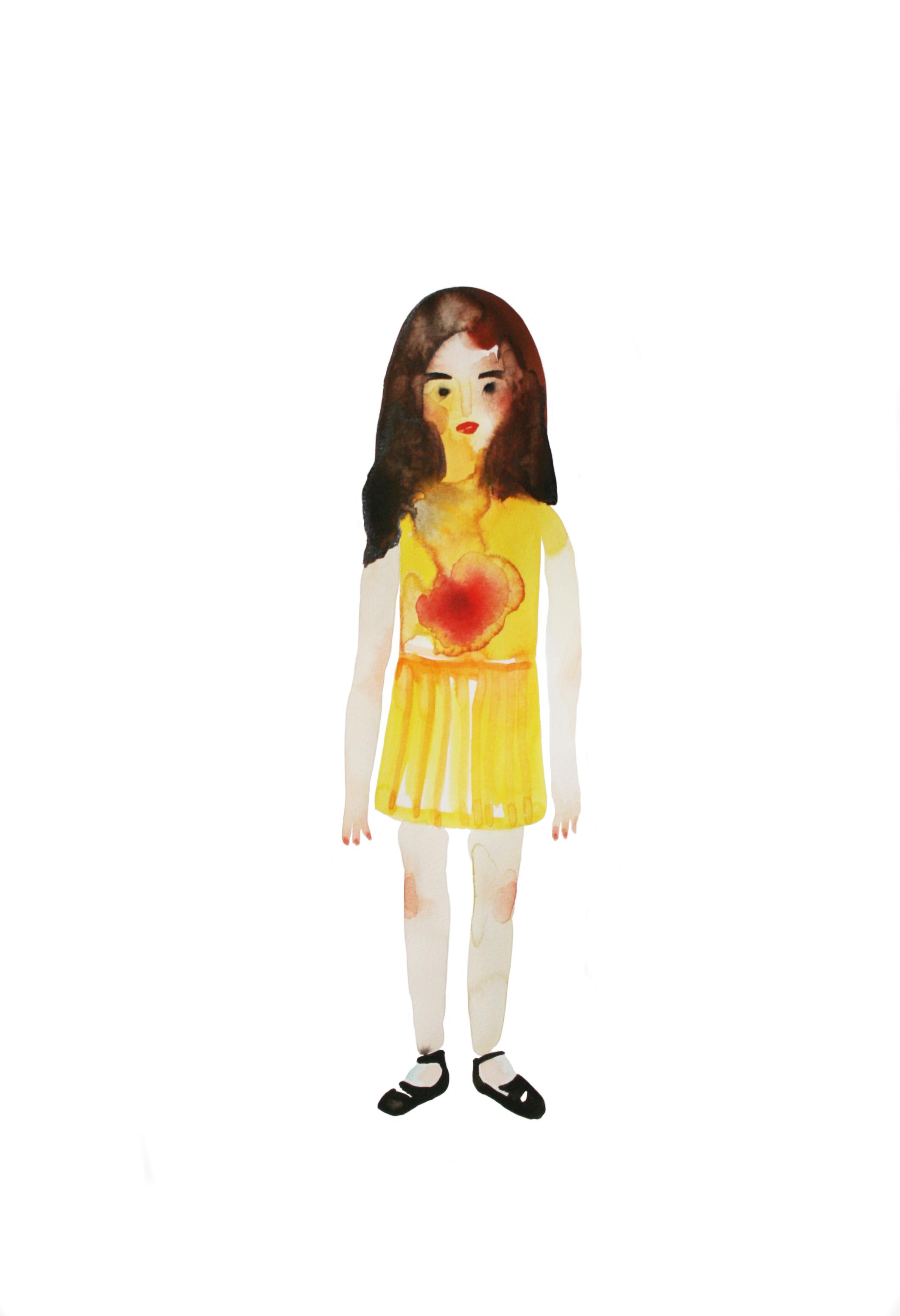 J'ai dix ans  , 2014, watercolor on paper, 43x29,7cm
