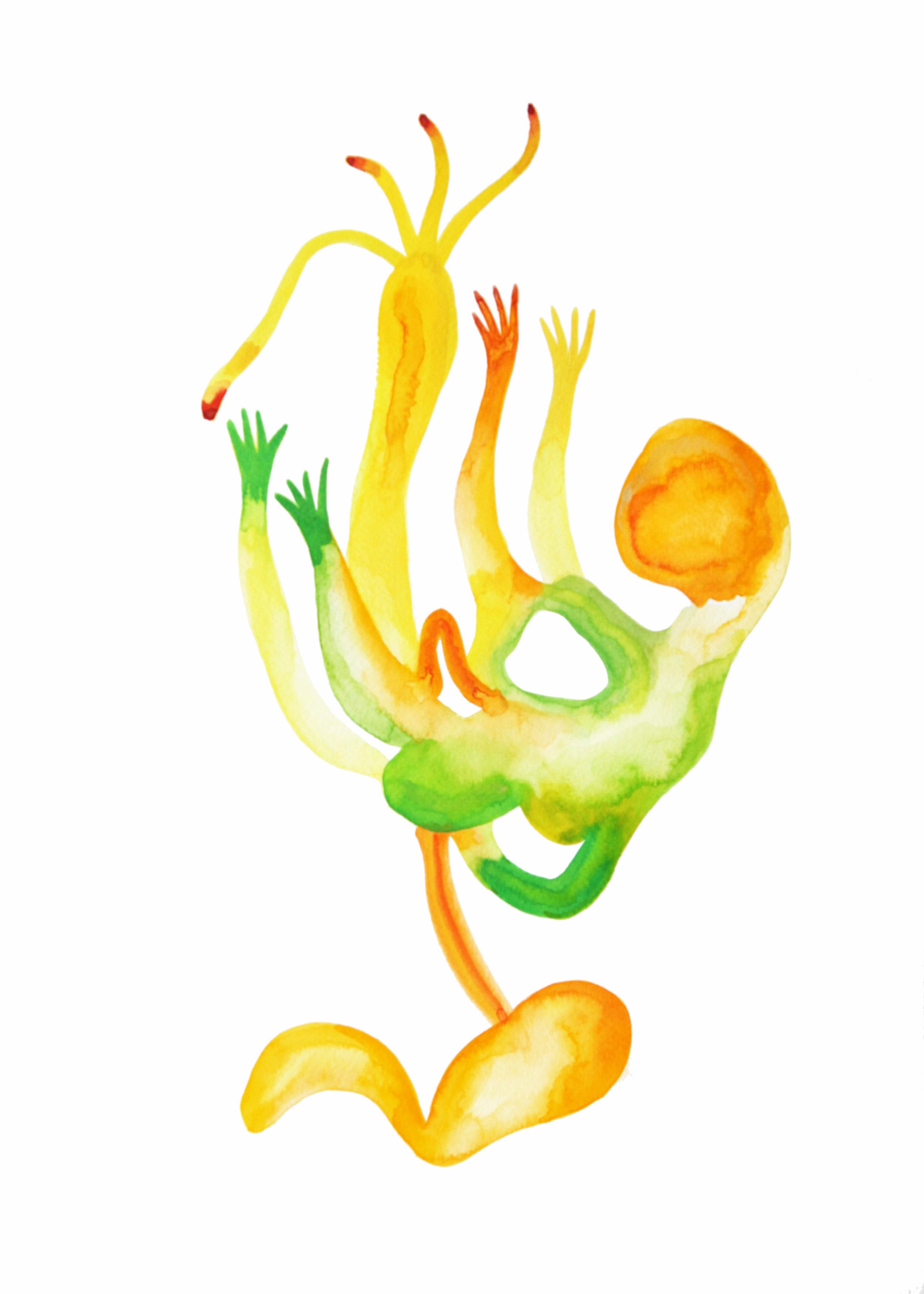 Foetus  , 2015, watercolor on paper, 40x30cm