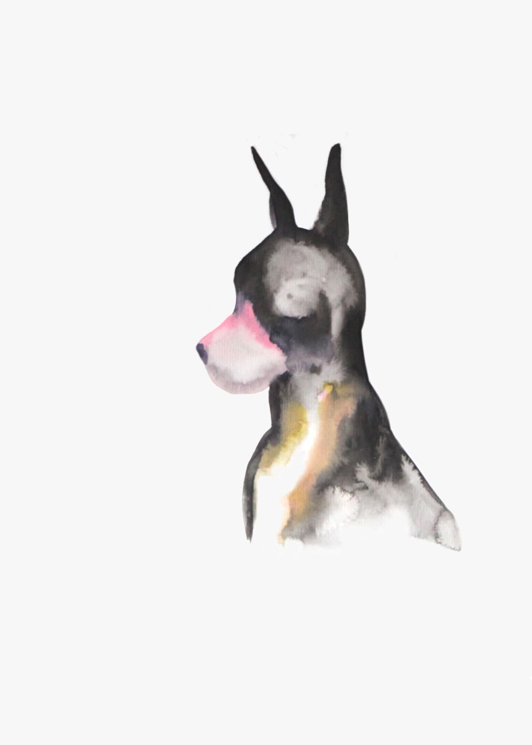 Hunting dog  , 2016, watercolor on paper, 40x30cm