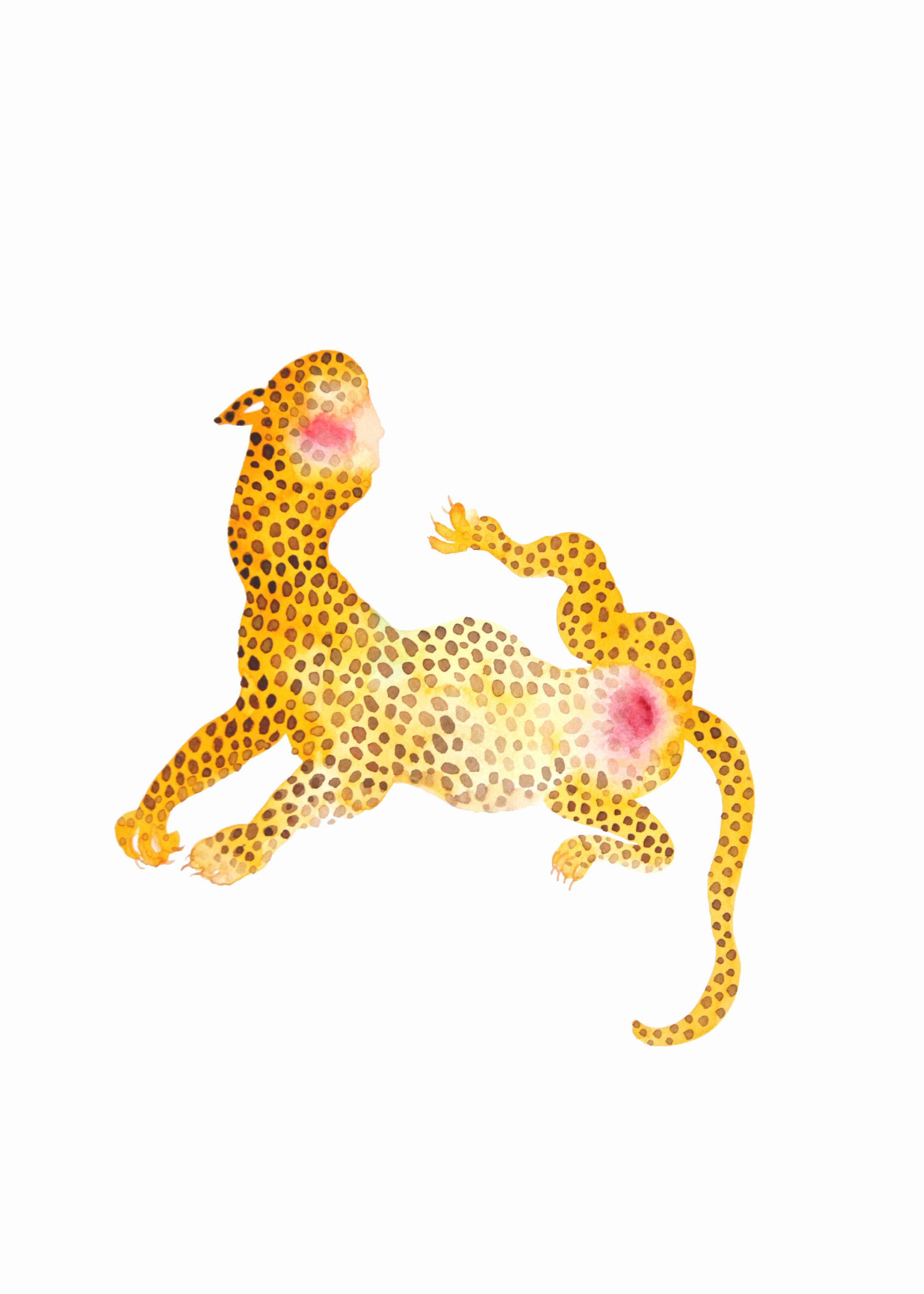 Leopard  , 2016, watercolor on paper, 40x30cm