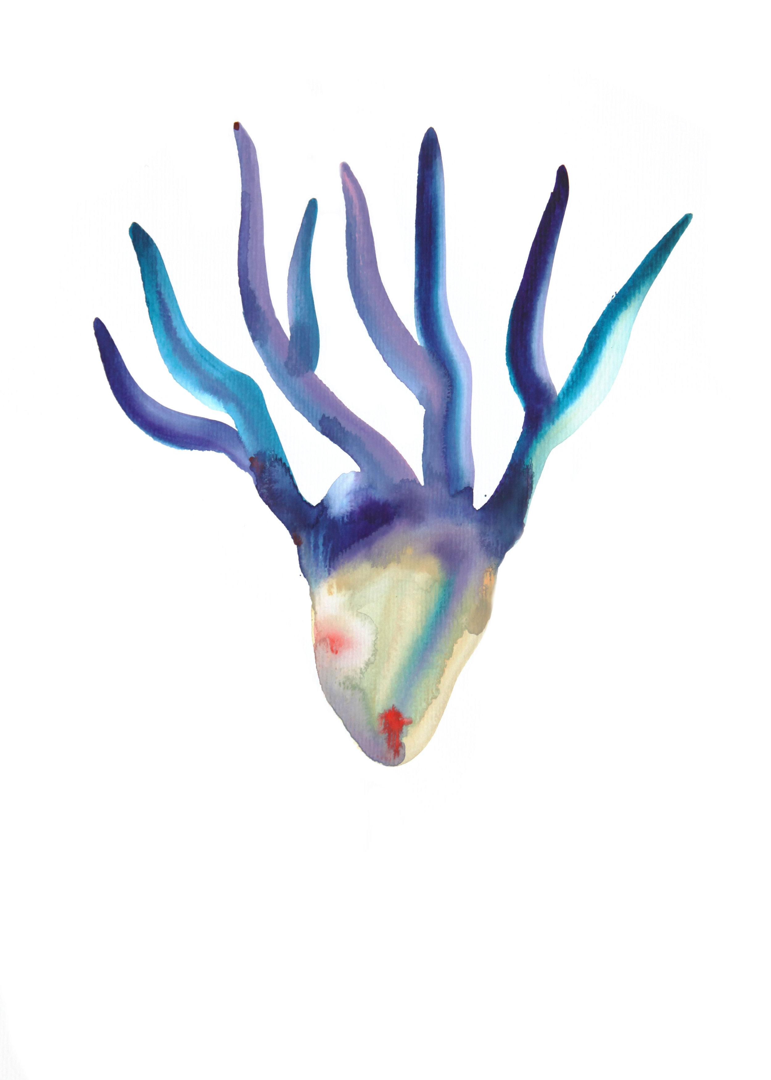 Medusa  , 2016, watercolor on paper, 40x30cm