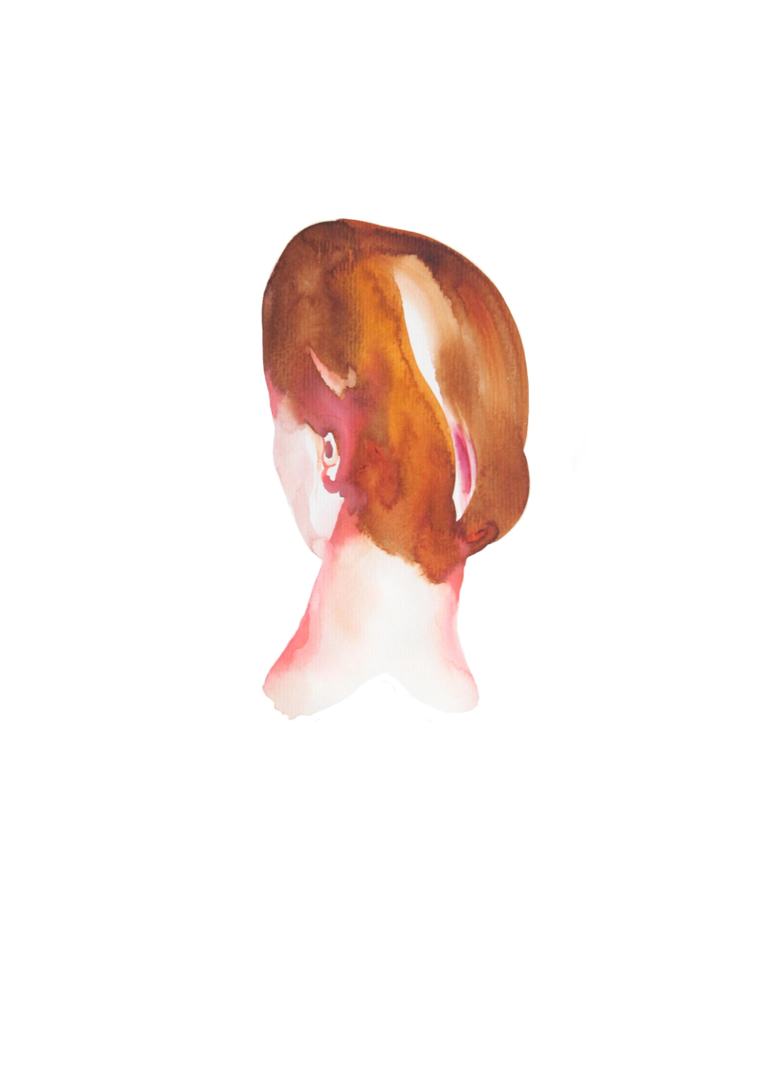 La nuque de Diane  , 2016, watercolor on paper, 40x30cm