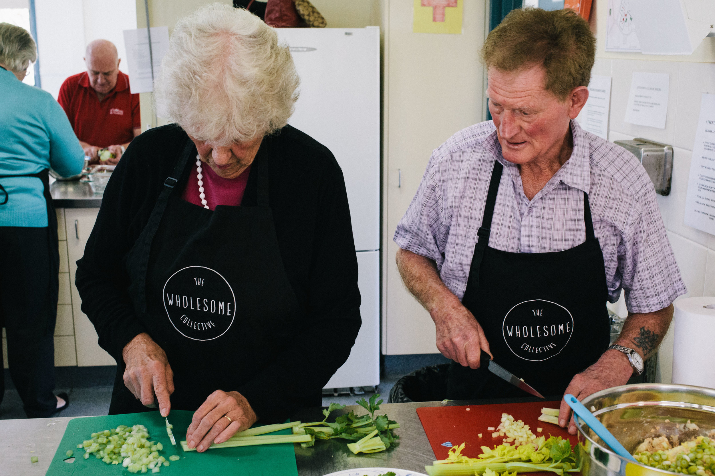 Two of our lovely clients from ADSSI Homeliving Australia cooking up a storm