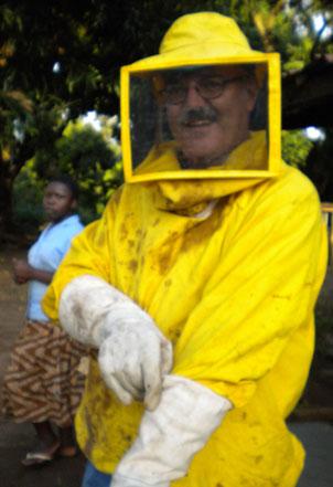 Walter's Apiary at Namalu School, Uganda. We'll start other Beekeeping programs in Uganda and Eastern Congo this year.