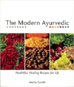 This Recommended book:  The Modern Ayurvedic Cookbook by Amrita Sondhi is available at amazon.com or can be pre-ordered for you in advance for $20.
