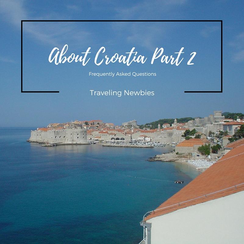 FAQ About Croatia