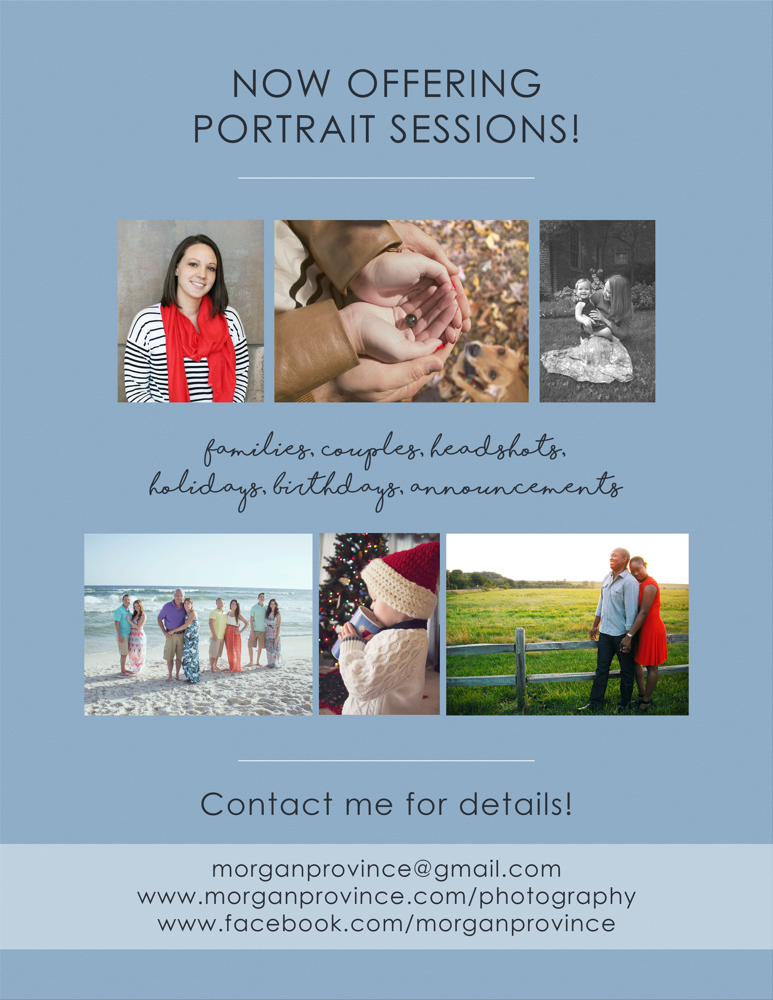 Contact Morgan Province for Your Photography Needs!