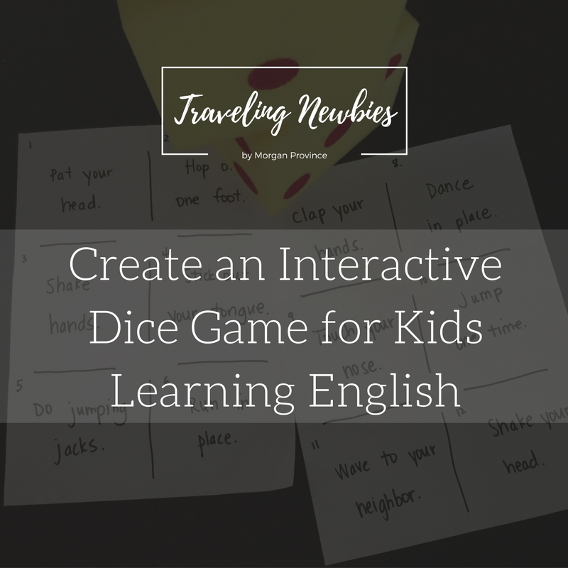 Learn how to create an interactive dice game for kids learning English as a foreign language.