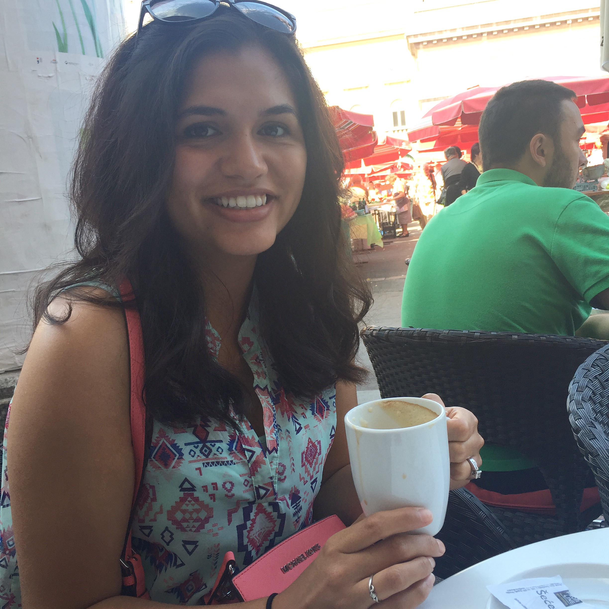 Coffee at the Dolac in Zagreb by the Traveling Newbies