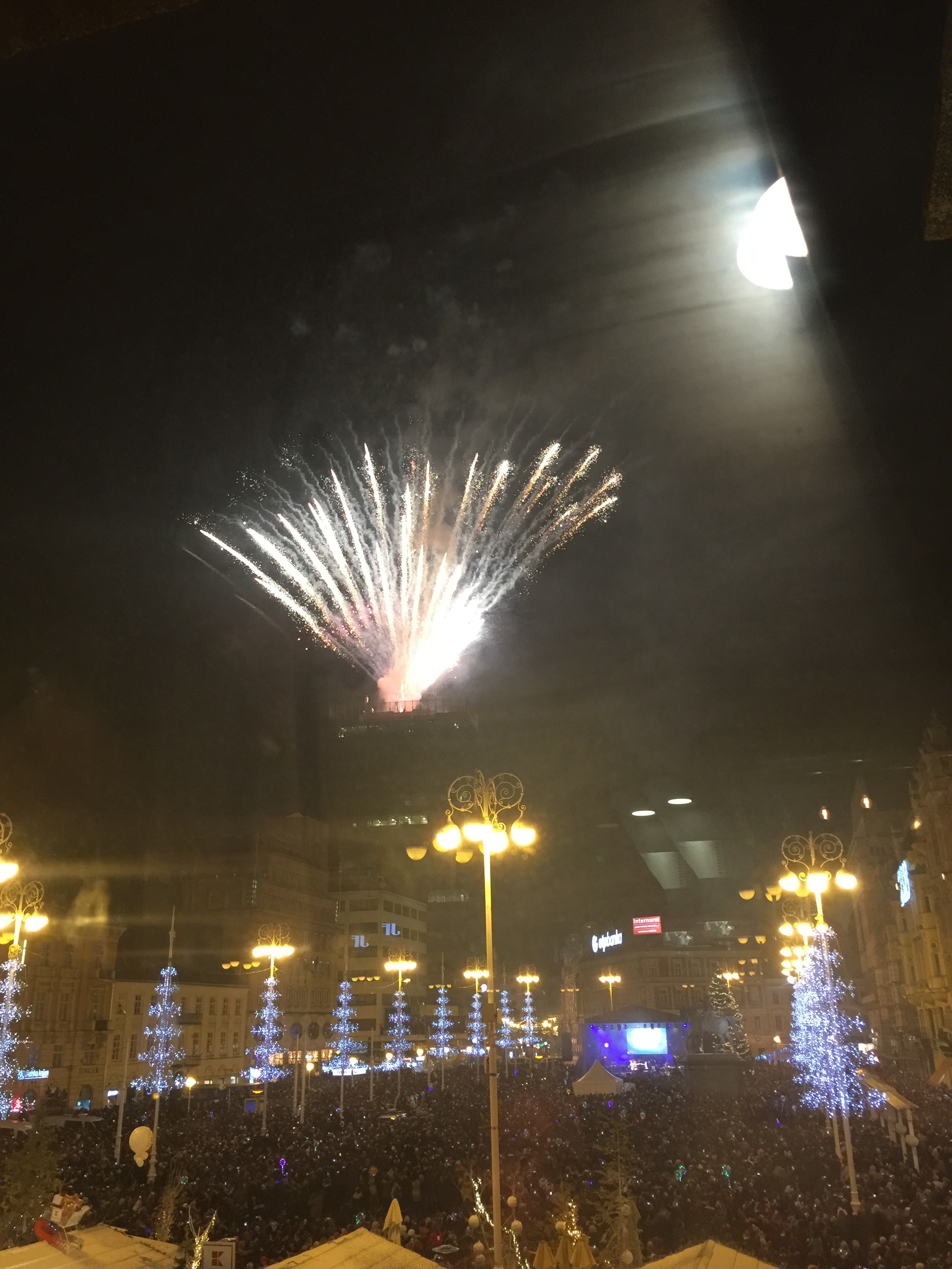 New Years Fireworks in Zagreb